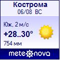 Погода от Метеоновы по г. Кострома