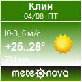 Погода от Метеоновы по г. Клин