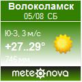 Погода от Метеоновы по г. Волоколамск