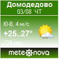 Погода от Метеоновы по г. Домодедово