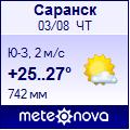 Meteonova погода в саранске на 1 день