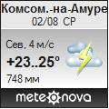 Погода от Метеоновы по г. Комсомольск-на-Амуре