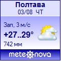 Погода от Метеоновы по г. Полтава