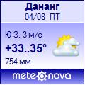 Погода от Метеоновы по г. Дананг