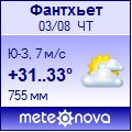 Погода от Метеоновы по г. Фантхьет