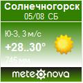 Погода от Метеоновы по г. Солнечногорск