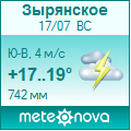 Погода от Метеоновы по г. Зырянское
