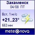 Погода от Метеоновы по г. Закаменск