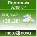Погода от Метеоновы по г. Подольск