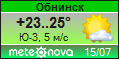 Погода от Метеоновы по г. Обнинск