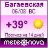Погода от Метеоновы по г. Багаевская