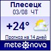 Погода от Метеоновы по г. Плесецк