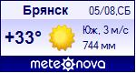 Погода от Метеоновы по г. Брянск