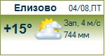 Погода от Метеоновы по г. Елизово
