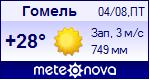 Погода от Метеоновы по г. Гомель