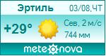 Погода от Метеоновы по г. Эртиль