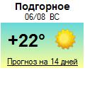 Погода от Метеоновы по г. Подгорное
