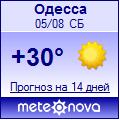 Погода от Метеоновы по г. Одесса