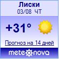 Погода от Метеоновы по г. Лиски