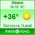 Погода от Метеоновы по г. Изюм