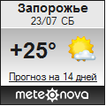 Погода от Метеоновы по г. Запорожье