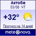 Погода от Метеоновы по г. Актобе