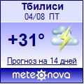 Погода от Метеоновы по г. Тбилиси