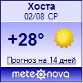Погода от Метеоновы по г. Хоста